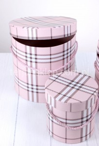 Flower box (3 szt) W2025 KRATA BURBERRY #lt pink
