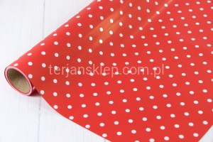 Folio-papier rulon (red w kropki)