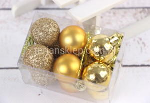 Bombki fi 30 mm (12 szt) TG42508 (gold mix#2)