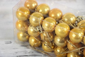Bombki fi 25 mm (36 szt) S660 (03 gold)