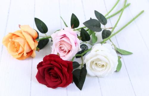 d64eab932cd837 Róża gał. welur F19056 (mix kolorów) 24 szt x 3 zł - Sklep ...